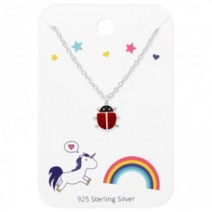 Katica ezüst nyaklánc, ajándékkártyán
