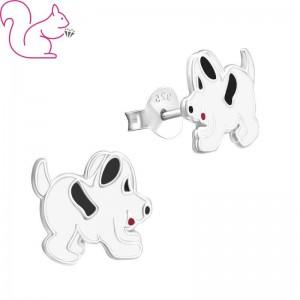 Kutya gyerek fülbevaló, ezüst