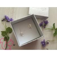 Pillangó ezüst fülbevaló