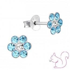 Virágos fülbevaló, ezüst