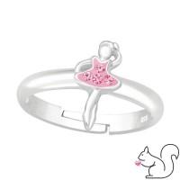 Balerina kristály ezüst gyűrű