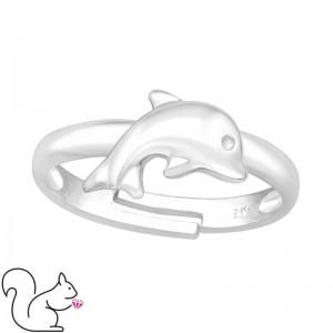 Delfin ezüst gyűrű
