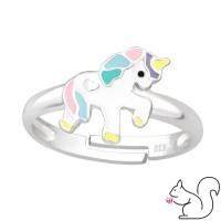 Egyszarvú ezüst gyűrű