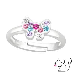 Pillangó kristály ezüst gyűrű