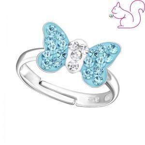 Kék köves, fehér köves ezüst gyerek gyűrű