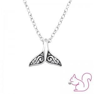 Bálna farok ezüst nyaklánc