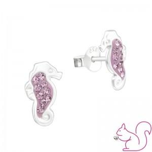 Csikóhal ezüst stift fülbevaló