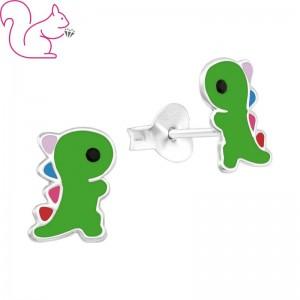 Dinoszaurusz ezüst Trex fülbevaló