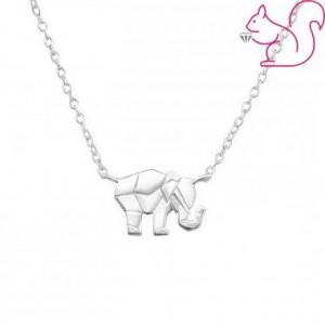 Modern elefántos ezüst nyaklánc