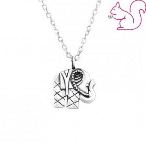 Elefántos ezüst nyaklánc