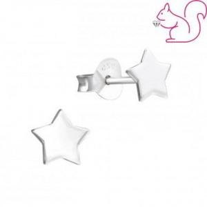 Csillag ezüst fülbevaló, 7 x 7 mm