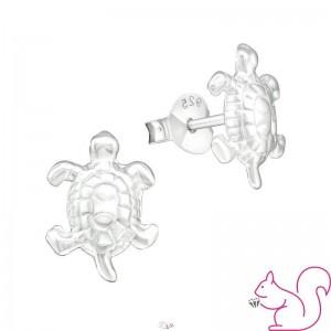 Ezüst teknősbéka fülbevaló