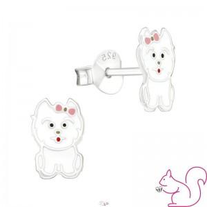 Kutya kislány ezüst fülbevaló