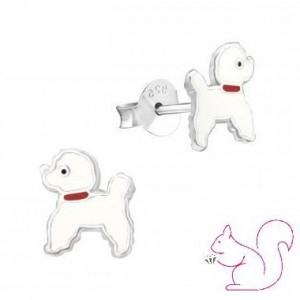 Fehér kutyás gyerek fülbevaló
