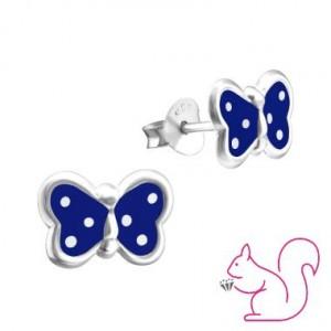 Lepkés stift kék fülbevaló
