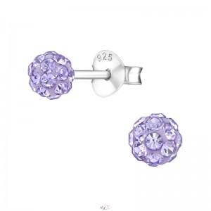 Sok köves lila kristály stift fülbevaló