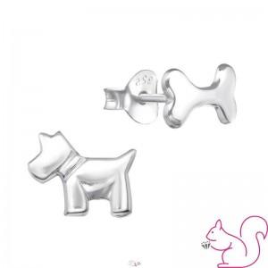Kutya és csont aszimetrikus fülbevaló