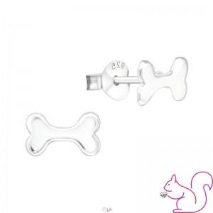 Kutya csont ezüst fülbevaló