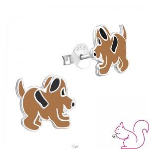 Kutya gyerek fülbevaló, barna