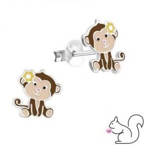 Majmocska ezüst fülbevaló