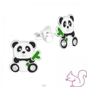 Pandamaci bambusz ággal stift fülbevaló