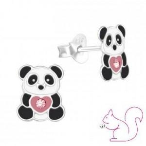 Pandamaci stift fülbevaló