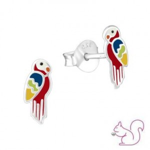 Papagáj gyerek fülbevaló