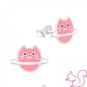Szaturnusz cica fülbevaló