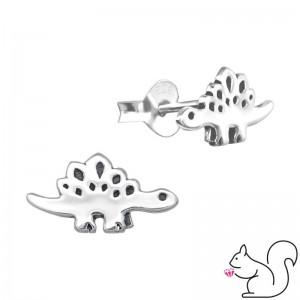 Sztegoszaurusz dinoszauruszos ezüst fülbevaló