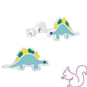 Sztegoszaurusz dínós fülbevaló