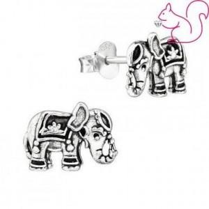 Elefánt ezüst stift fülbevaló