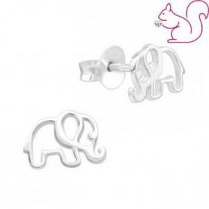 Elefánt ezüst fülbevaló,