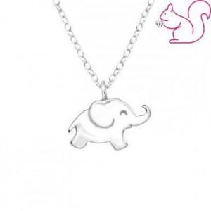 Elefánt, ezüst nyaklánc
