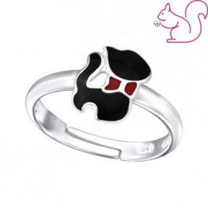 Cica gyűrű, ezüst