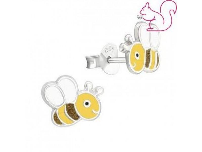 Méhecskés fülbevaló, ezüst