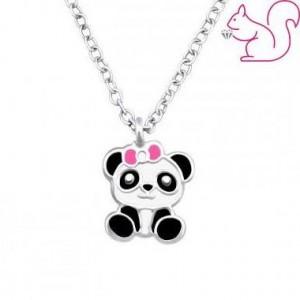 Pandamaci ezüst nyaklánc