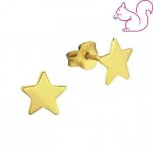 Aranyozott csillag ezüst fülbevaló