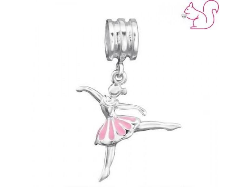 Balerina ezüst charm