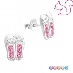 Balerina cipő fülbevaló, ezüst