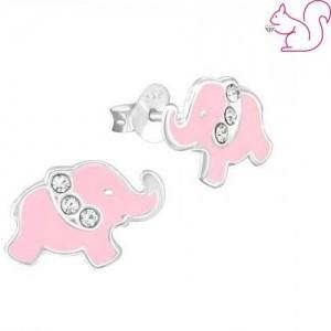 Elefánt fülbevaló, ezüst