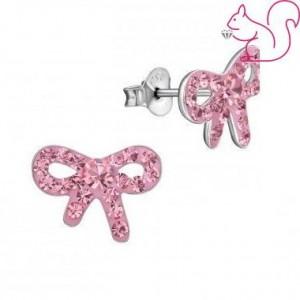 Rózsaszín masnis fülbevaló