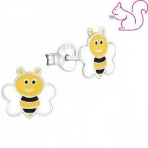 Méhecskés kislány fülbevaló, ezüst