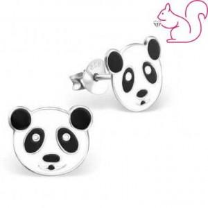 Pandamacis gyermek fülbevaló, ezüst