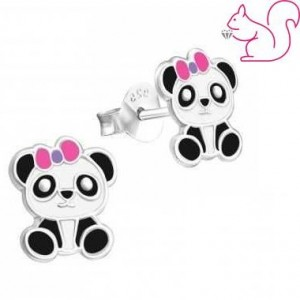 Pandamacis bedugós fülbevaló, ezüst