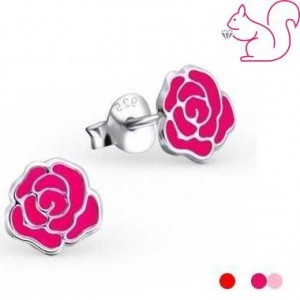 Virágos fülbevaló, ezüst, 4 színben