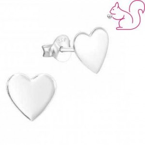 Ezüst szív fülbevaló