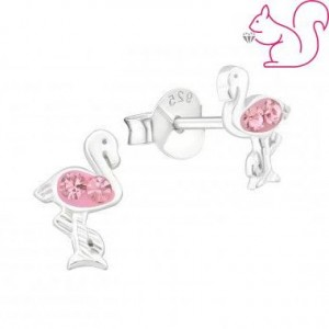Flamingó stift fülbevaló