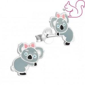 Koala kislány masnival fülbevaló