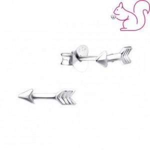Nyíl ezüst fülbevaló