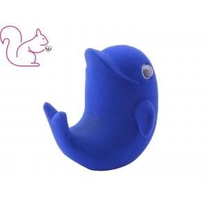 Delfin bársony ékszertartó doboz, kék